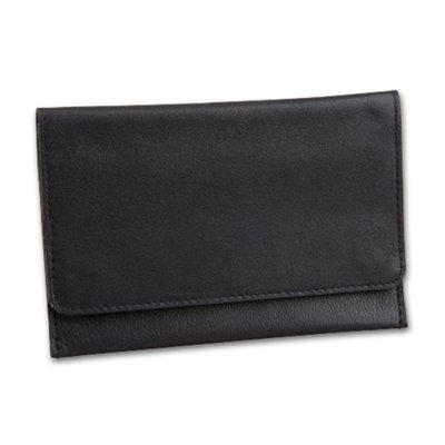 Feinschnitttasche / Tabakbeutel, Leder schwarz