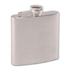 Taschenflasche / Flachmann aus Edelstahl, 180 ml, Linien-Dekor