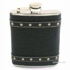 Taschenflasche / Flachmann 170 ml Leder-Optik mit Nieten