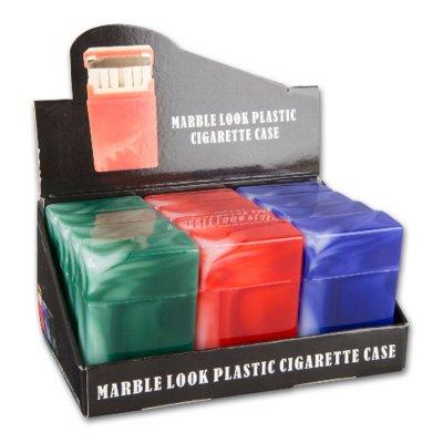 Zigaretten-Etui Kunststoff farblich sortiert 12er-Box