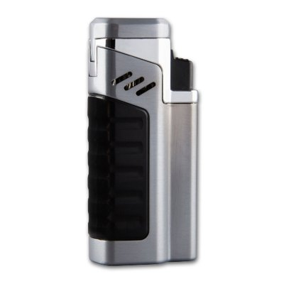 Zigarrenfeuerzeug Sky X4 Jet chrom-schwarz inkl. Rundcutter 6mm