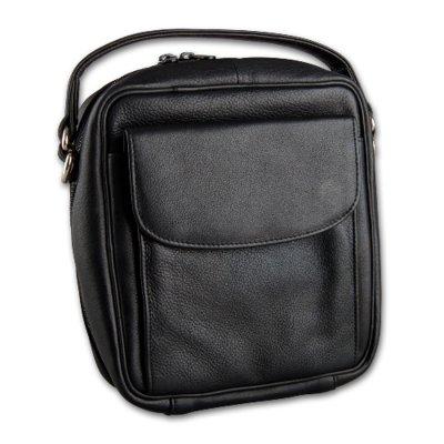 Pfeifentasche 8er Leder schwarz