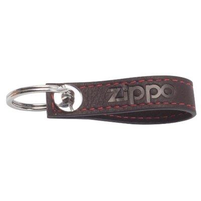 Schlüsselanhänger Zippo Leder mit Ring 10,5 x 1,8 x 1,5 cm