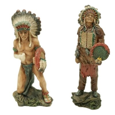 Poly-Figur Indianer-Figuren 9,5cm 2er-Set