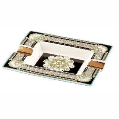 Zigarrenascher Porzellan New Bone China ANGELO Motiv Ornamente 2 Ablagen