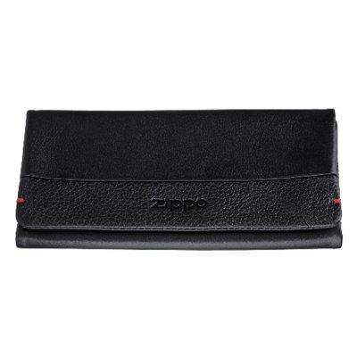 Feinschnitttasche-Tabakbeutel Zippo Nappa-Leder schwarz