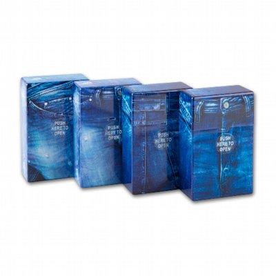 Zigarettenetui Zigarettenbox Kunststoff Clic Box Jeans 12er Box sortiert